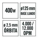 Lijadora excéntrica RATIO LR400NM 02